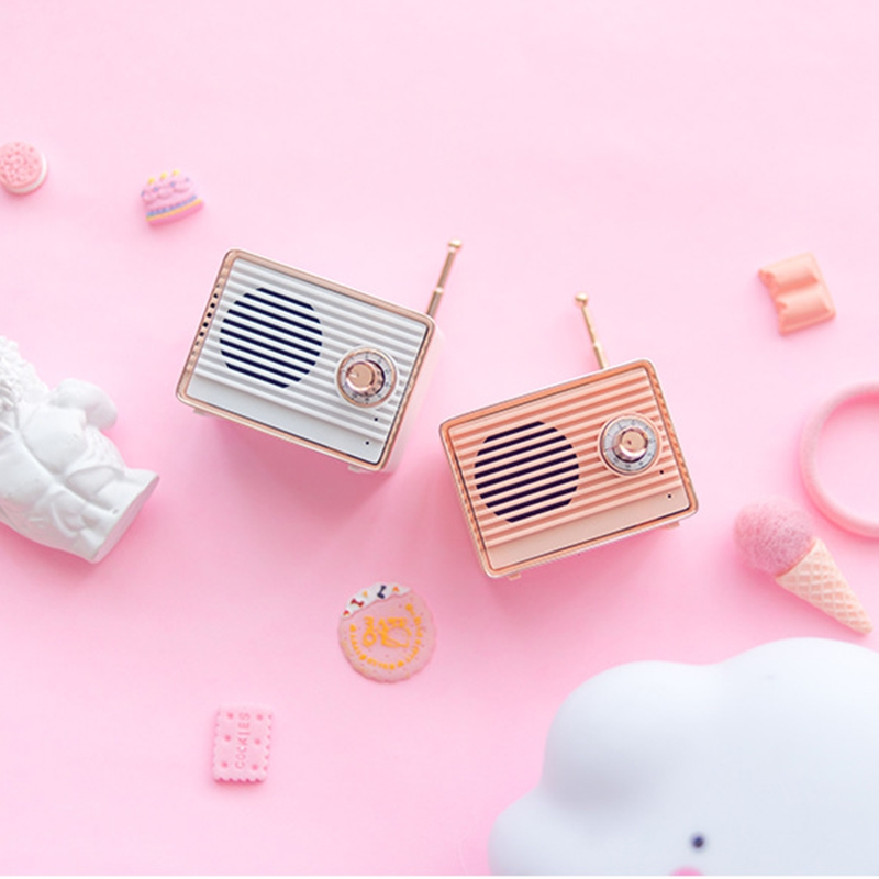 Retro-Bluetooth-Speaker-Vintage-Mini-Cute-Bluetooth-Speaker-Nostalgic-Heavy-Y4D1 thumbnail 23