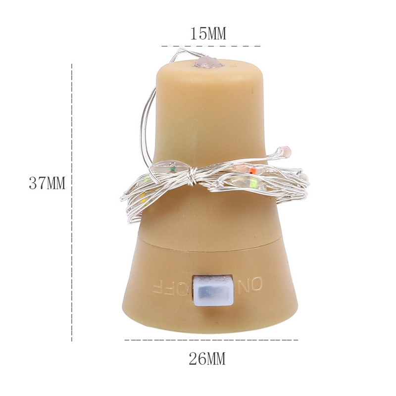 5-Pack-Solar-Powered-Wine-Bottle-Lights-10-Led-Waterproof-Warm-White-Copper-T2J9 thumbnail 3