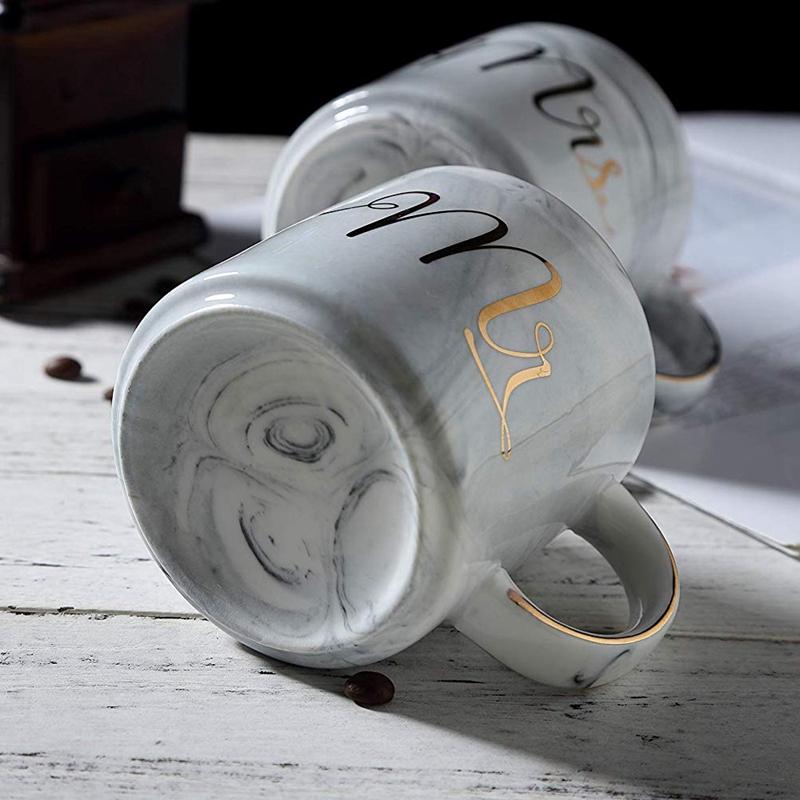 Kaffeebecher-Set-Mr-und-Mrs-Marmor-Farbige-Keramikbecher-2Er-Set-V8X7 Indexbild 9