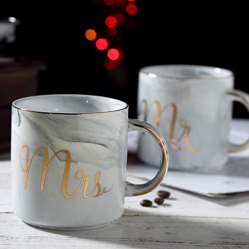 Kaffeebecher-Set-Mr-und-Mrs-Marmor-Farbige-Keramikbecher-2Er-Set-V8X7 Indexbild 10