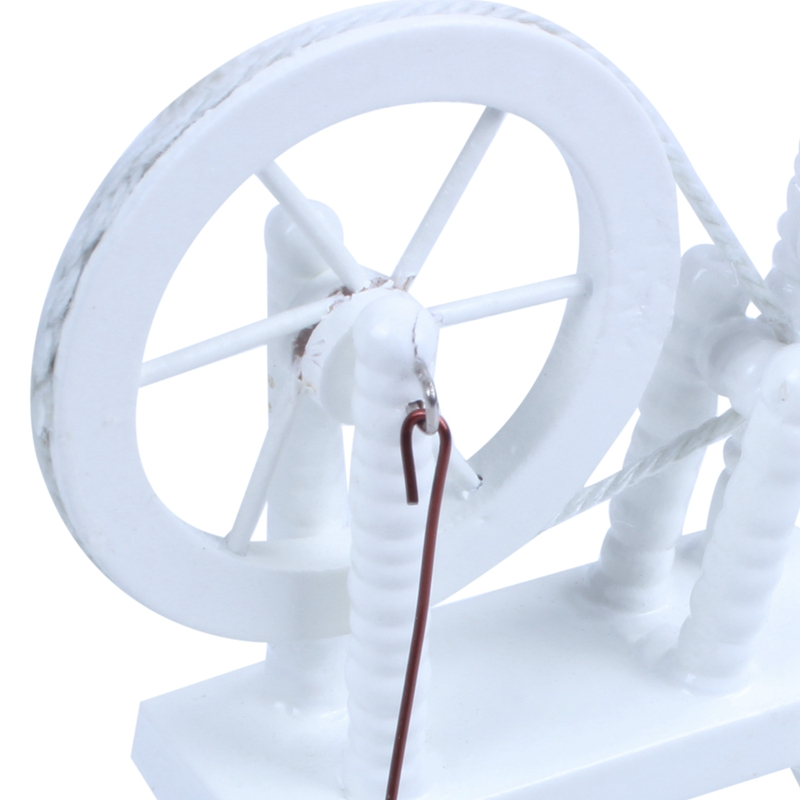 1-12-scale-doll-house-miniature-hand-reeling-machine-wooden-spinning-wheel-K8Z9 thumbnail 8