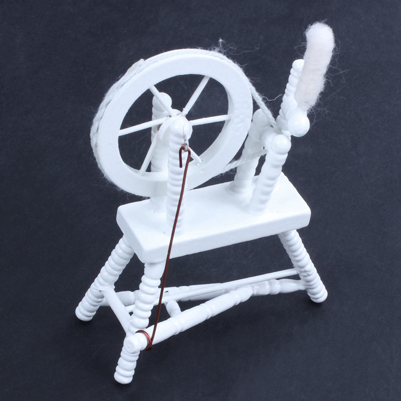 1-12-scale-doll-house-miniature-hand-reeling-machine-wooden-spinning-wheel-K8Z9 thumbnail 9
