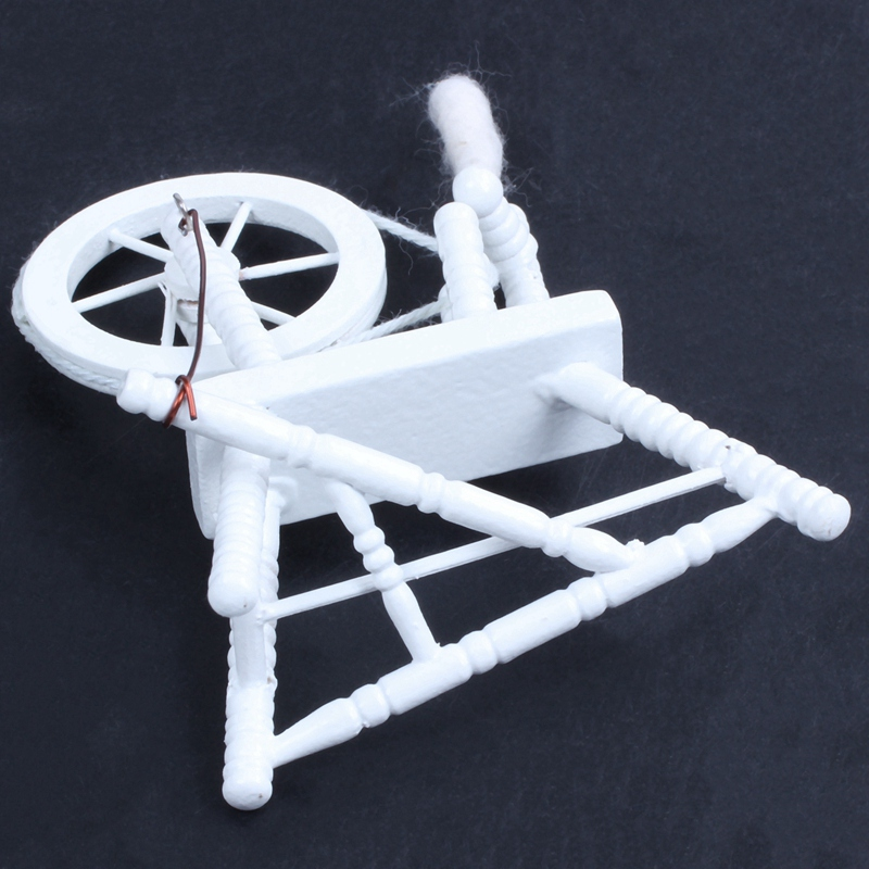 1-12-scale-doll-house-miniature-hand-reeling-machine-wooden-spinning-wheel-K8Z9 thumbnail 11
