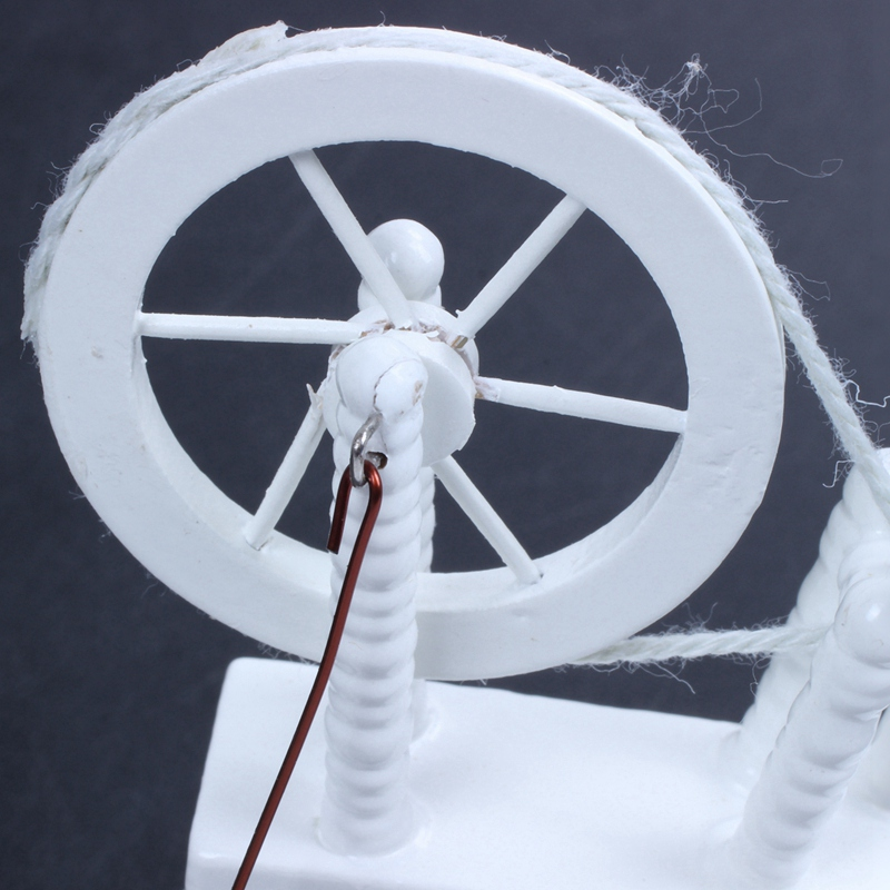 1-12-scale-doll-house-miniature-hand-reeling-machine-wooden-spinning-wheel-K8Z9 thumbnail 12