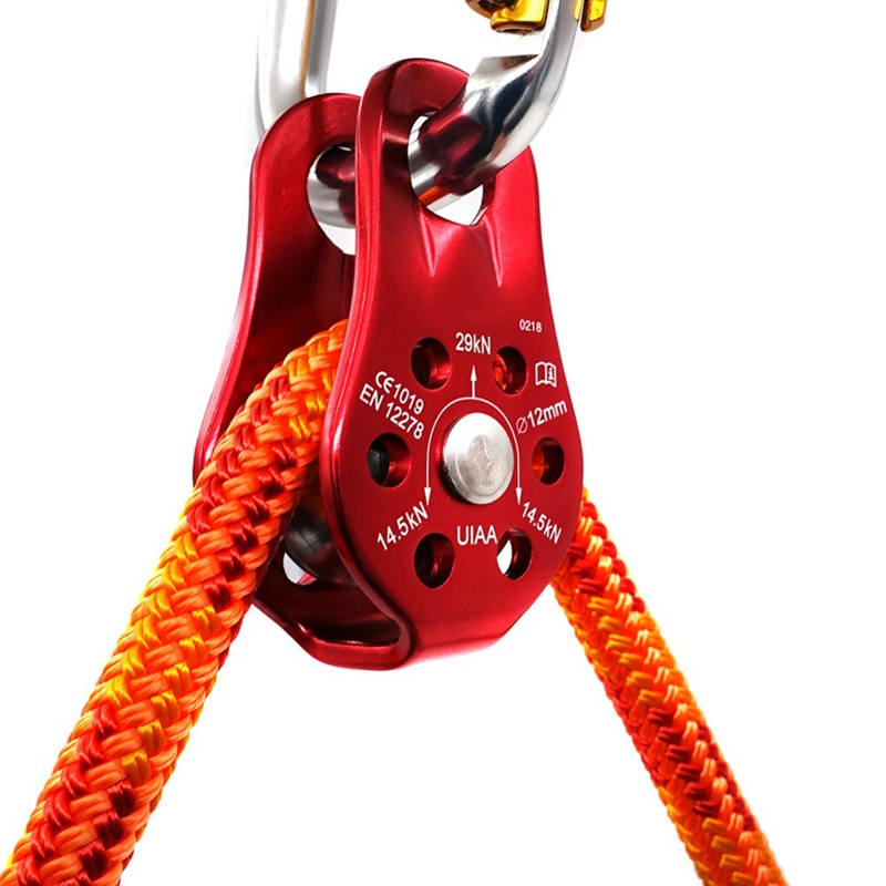 Outdoor Mountaineering Climbing Rope Pulley Tree Climb 32KN Fixed Type Gear