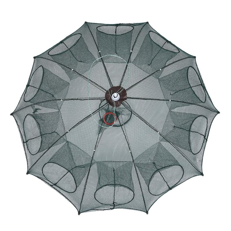 Portable-Pliable-Automatique-Filet-De-Peche-Piege-A-Filet-Net-Cast-Cage-A-P-G6U5 miniature 4