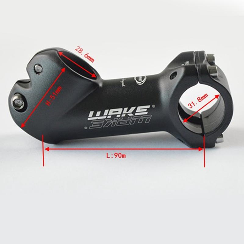 Wake 31.8mm Mountain Bike Stem Bicycle Short Handlebar Stem Aluminum Alloy SA