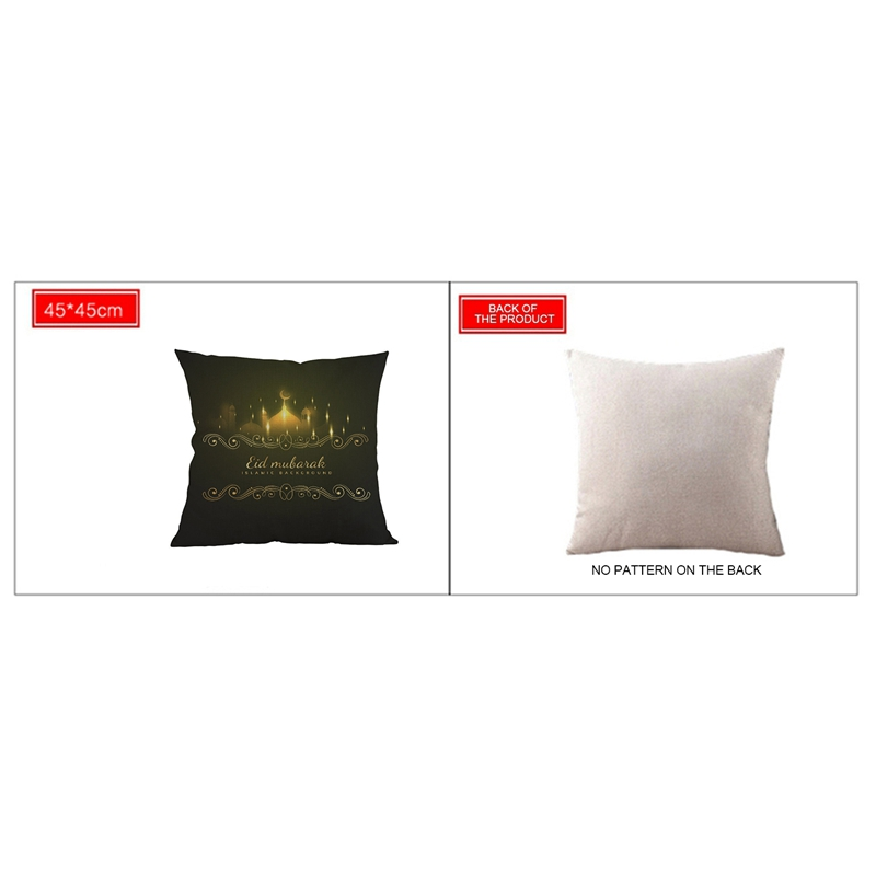 2X-45x45Cm-Eid-Mubarak-Cushion-Cover-Ramadan-Mubarak-Decoration-Home-Islami3Q6 thumbnail 5