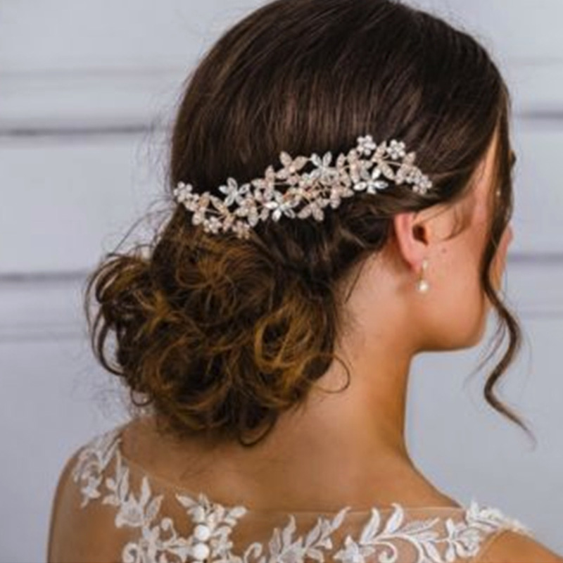 Wedding-Hair-Combs-For-Bride-Crystal-Rhinestones-Pearls-Women-Hairpins-BridR3Y3 thumbnail 5