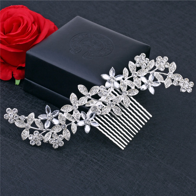 Wedding-Hair-Combs-For-Bride-Crystal-Rhinestones-Pearls-Women-Hairpins-BridR3Y3 thumbnail 7