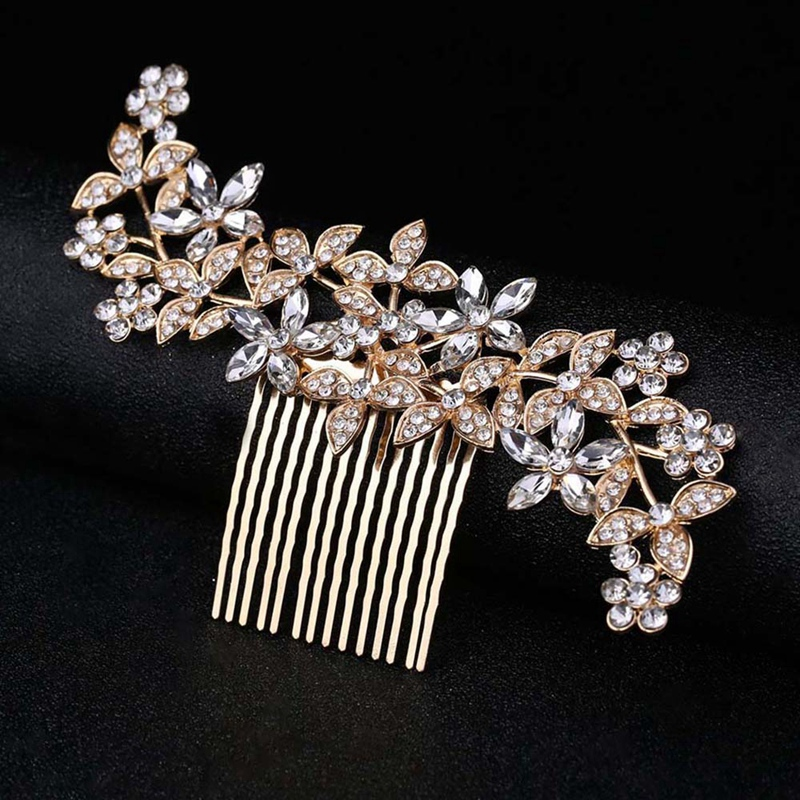 Wedding-Hair-Combs-For-Bride-Crystal-Rhinestones-Pearls-Women-Hairpins-BridR3Y3 thumbnail 8