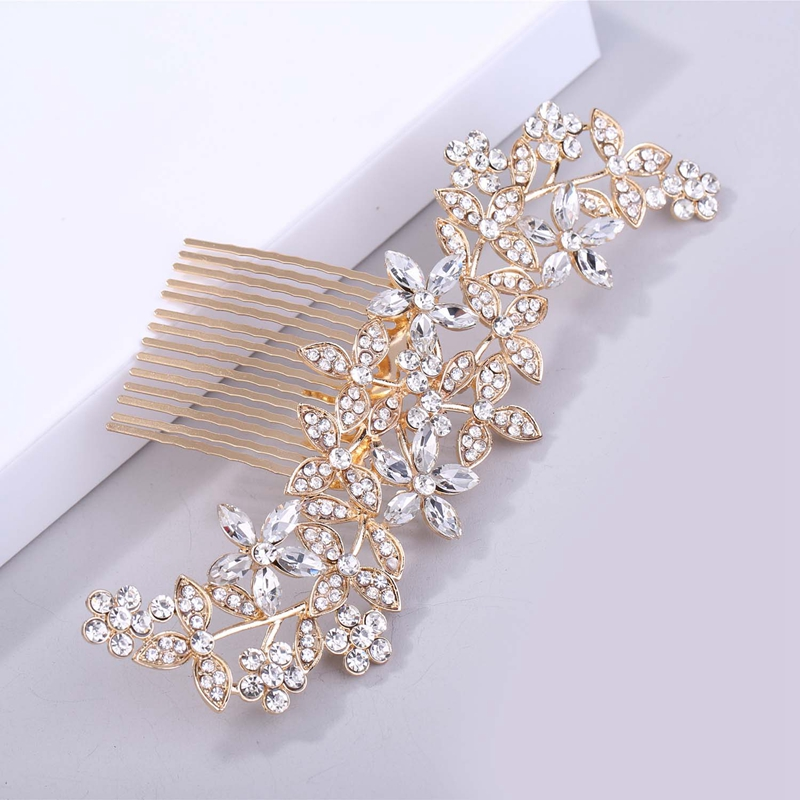 Wedding-Hair-Combs-For-Bride-Crystal-Rhinestones-Pearls-Women-Hairpins-BridR3Y3 thumbnail 9