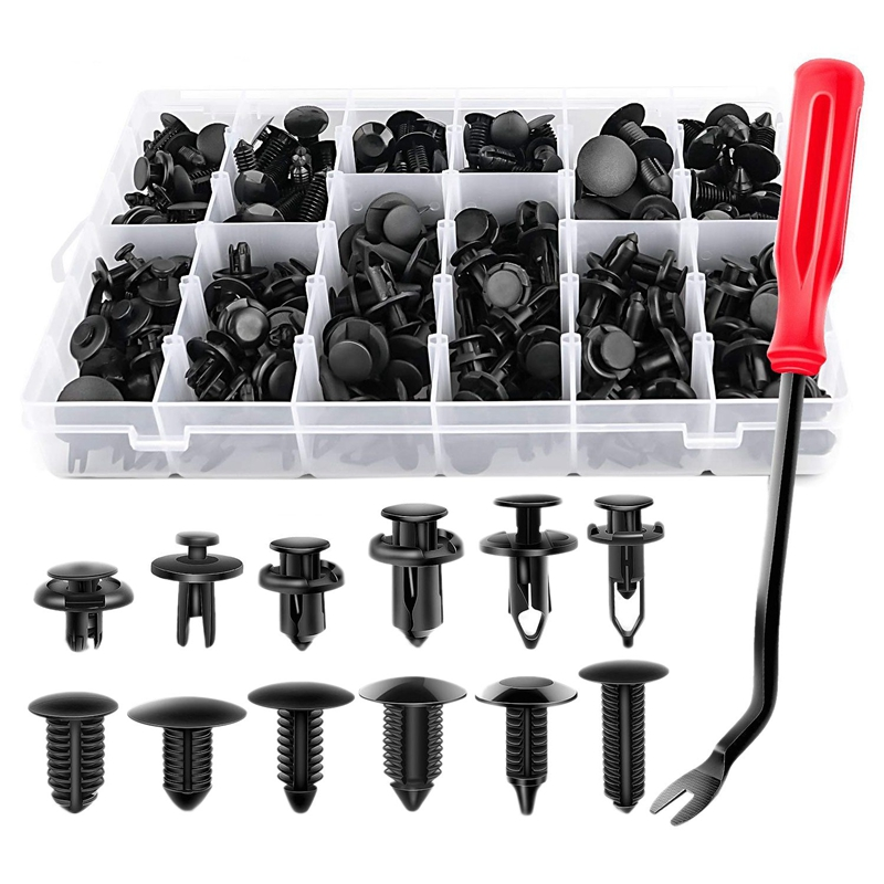 100 x Plastic Push Type Rivet Retainer Fastener Bumper Pin Clips For Ford For GM