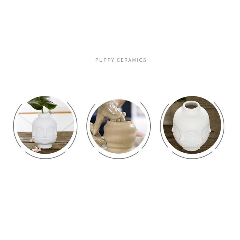 Artistas-Plantas-En-Macetas-Decoracion-De-Jardin-Florero-De-Ceramica-Blanca-C4F3 miniatura 7
