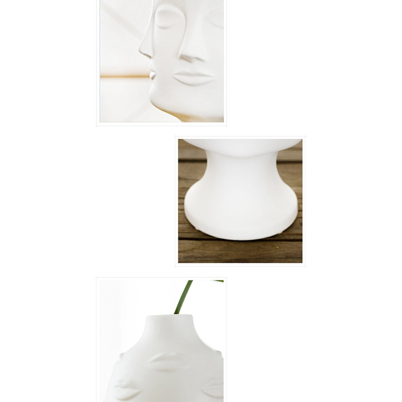 Artistas-Plantas-En-Macetas-Decoracion-De-Jardin-Florero-De-Ceramica-Blanca-C4F3 miniatura 8