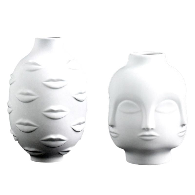 Artistas-Plantas-En-Macetas-Decoracion-De-Jardin-Florero-De-Ceramica-Blanca-C4F3 miniatura 9