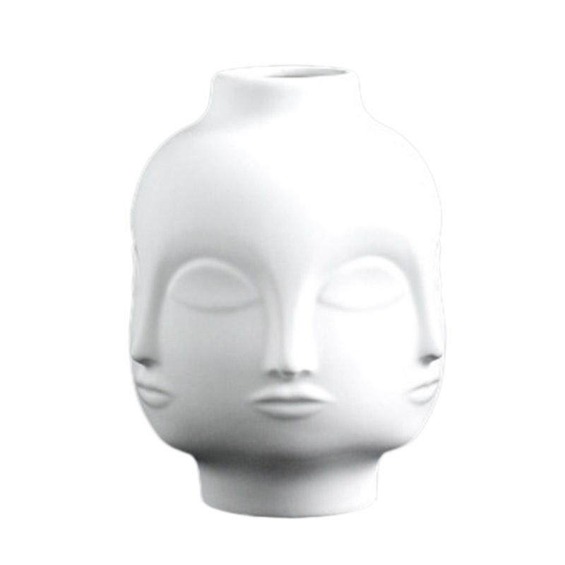 Artistas-Plantas-En-Macetas-Decoracion-De-Jardin-Florero-De-Ceramica-Blanca-C4F3 miniatura 2