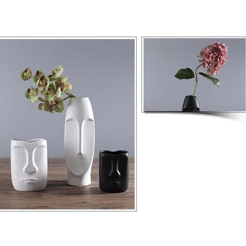 Nordique-Minimalisme-Abstrait-Vase-en-Ceramique-Visage-Art-Exhibition-Hall-P2Y8 miniature 3