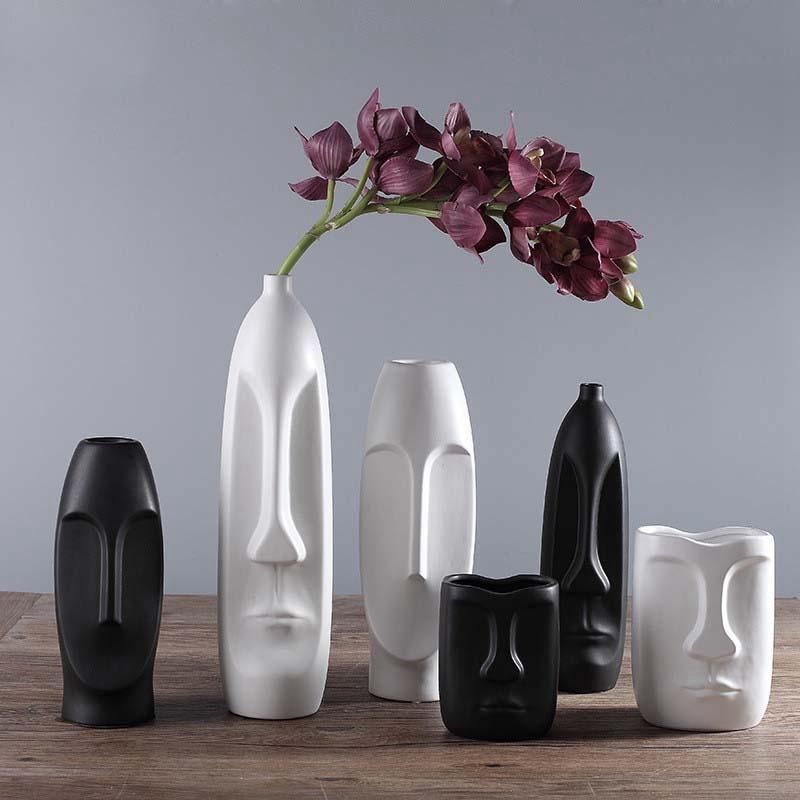 Nordique-Minimalisme-Abstrait-Vase-en-Ceramique-Visage-Art-Exhibition-Hall-P2Y8 miniature 6