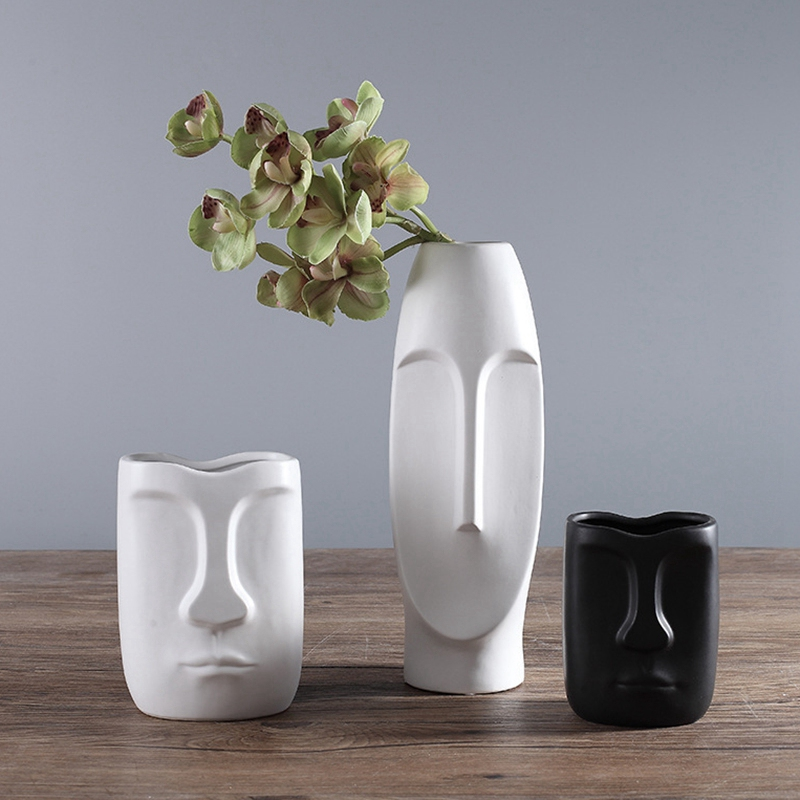 Nordique-Minimalisme-Abstrait-Vase-en-Ceramique-Visage-Art-Exhibition-Hall-P2Y8 miniature 7