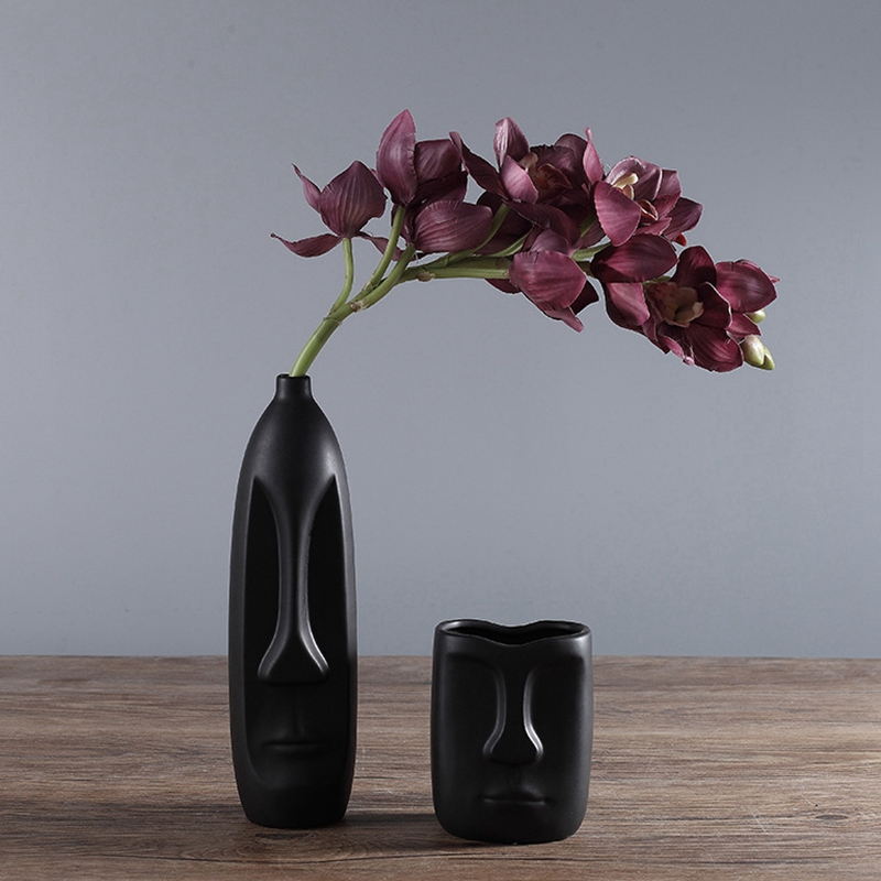 Nordique-Minimalisme-Abstrait-Vase-en-Ceramique-Visage-Art-Exhibition-Hall-P2Y8 miniature 8