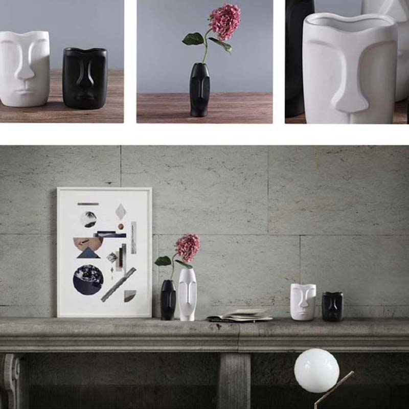 Nordique-Minimalisme-Abstrait-Vase-en-Ceramique-Visage-Art-Exhibition-Hall-P2Y8 miniature 9