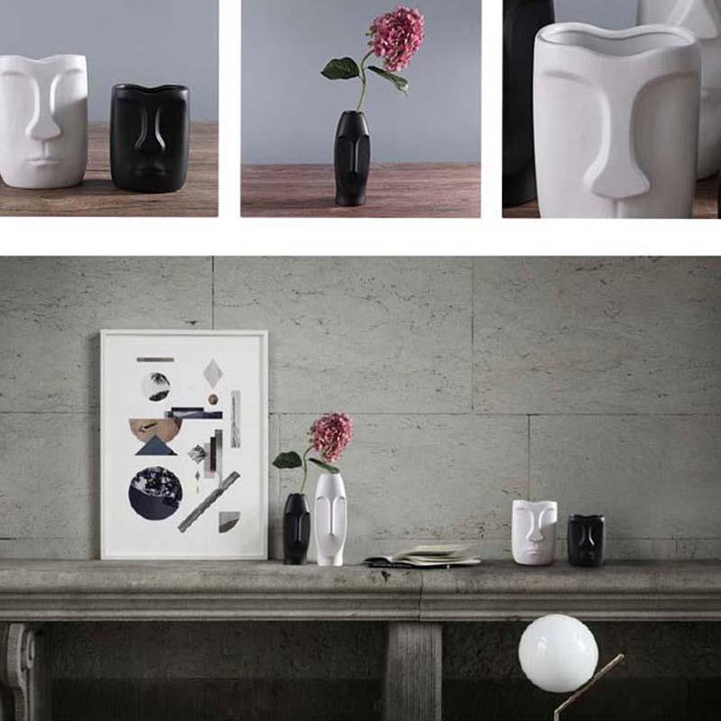 Nordique-Minimalisme-Abstrait-Vase-en-Ceramique-Visage-Art-Exhibition-Hall-P2Y8 miniature 18