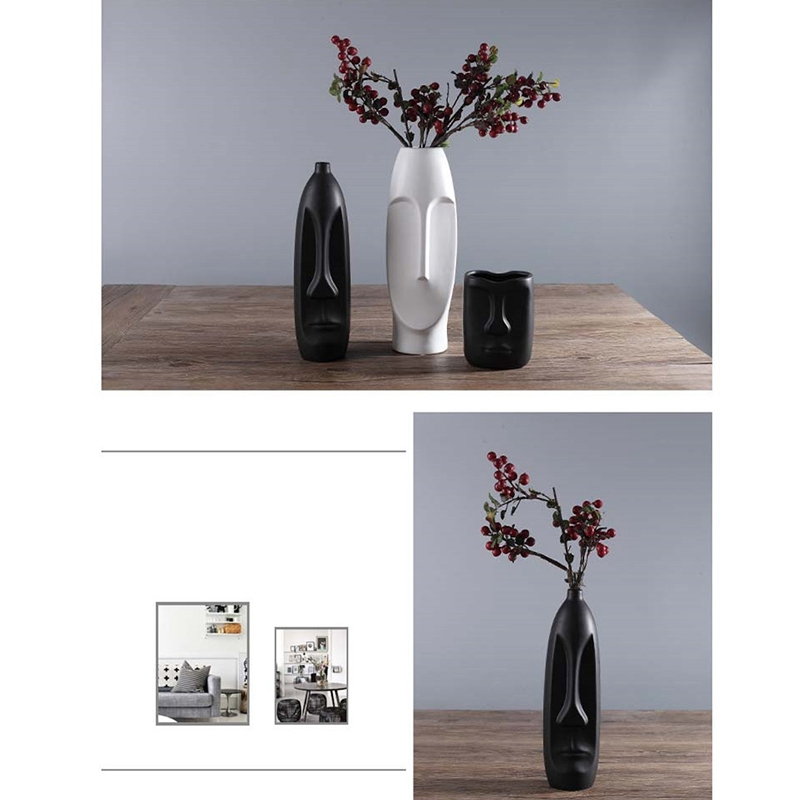 Nordique-Minimalisme-Abstrait-Vase-en-Ceramique-Visage-Art-Exhibition-Hall-P2Y8 miniature 24