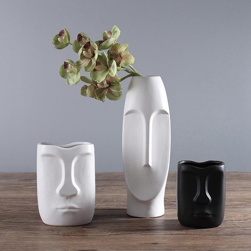 Nordique-Minimalisme-Abstrait-Vase-en-Ceramique-Visage-Art-Exhibition-Hall-P2Y8 miniature 31