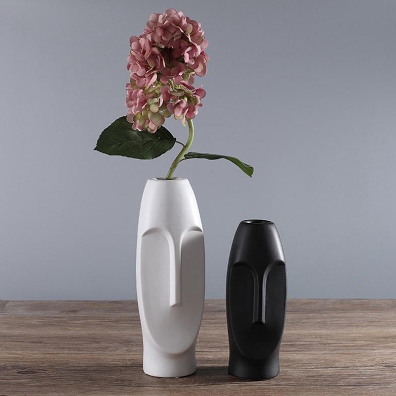 Nordique-Minimalisme-Abstrait-Vase-en-Ceramique-Visage-Art-Exhibition-Hall-P2Y8 miniature 35