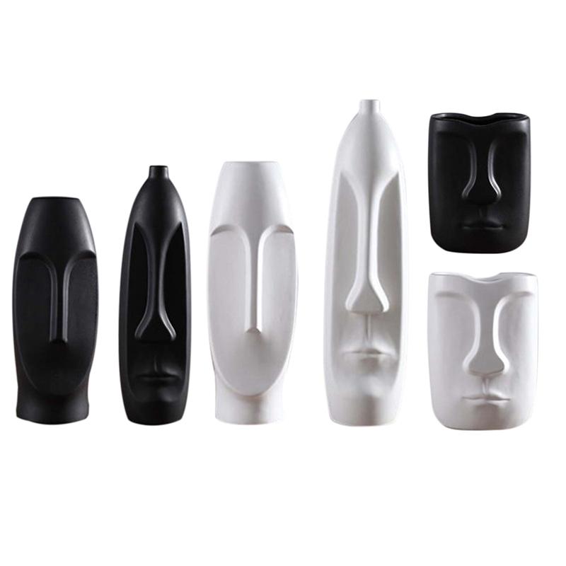 Nordique-Minimalisme-Abstrait-Vase-en-Ceramique-Visage-Art-Exhibition-Hall-P2Y8 miniature 37