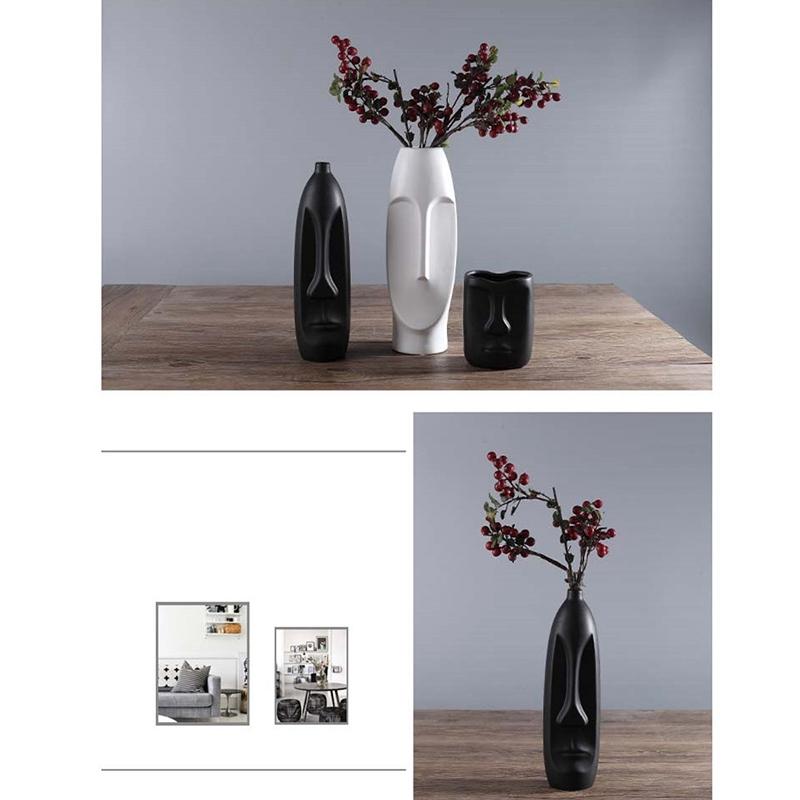 Nordique-Minimalisme-Abstrait-Vase-en-Ceramique-Visage-Art-Exhibition-Hall-P2Y8 miniature 44