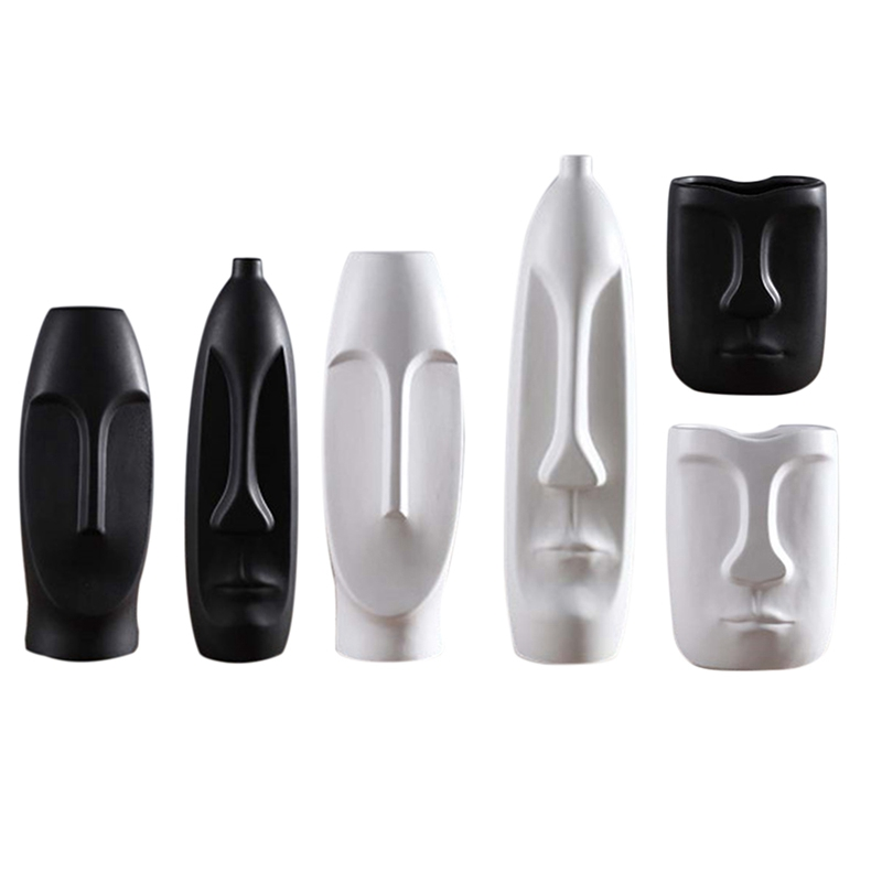 Nordique-Minimalisme-Abstrait-Vase-en-Ceramique-Visage-Art-Exhibition-Hall-P2Y8 miniature 55