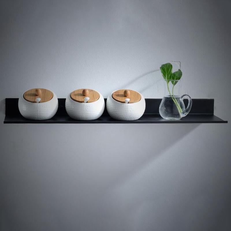 Estantes-De-Bano-Cocina-Estante-De-Pared-Ducha-Rack-De-Almacenamiento-Acces-X2Y5 miniatura 4