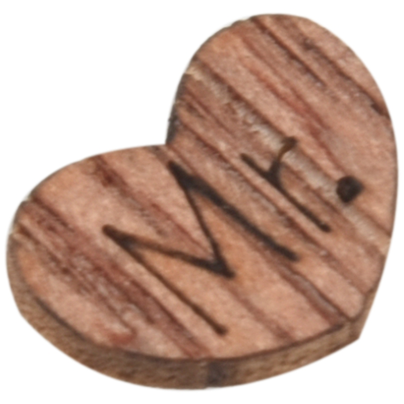 100Pcs-Wedding-Table-Confetti-Favour-Wooden-Love-Hearts-Mr-Mrs-Bride-Groom-V8R6 thumbnail 3