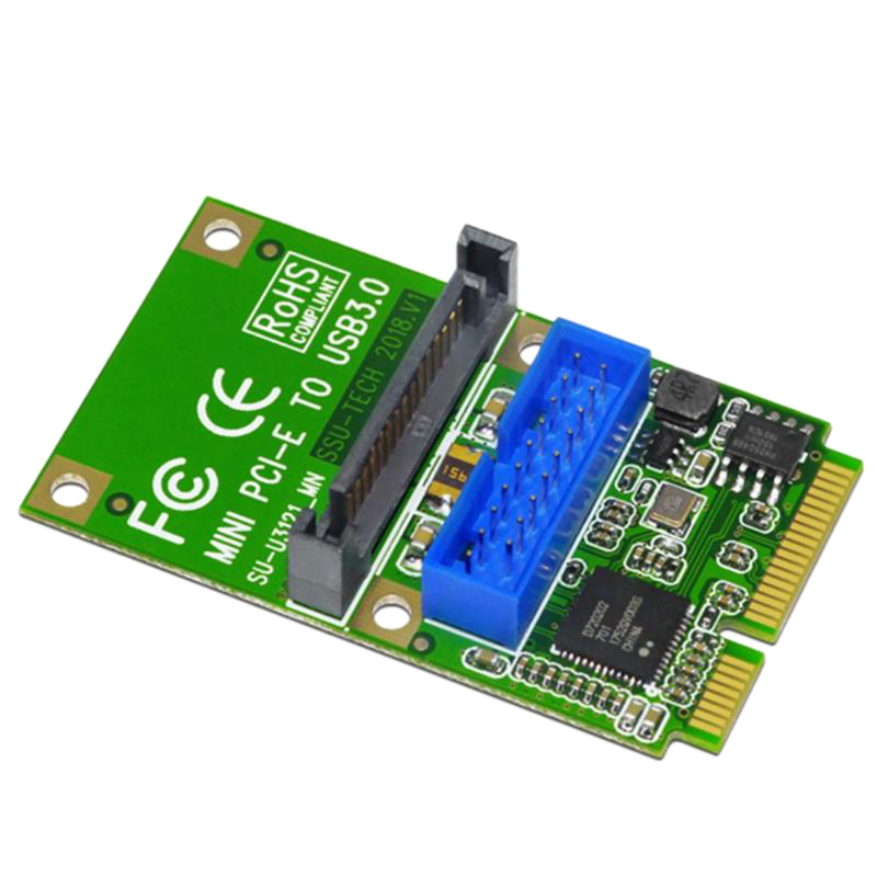 Details about Mini Pci-E To Usb3 0 Adapter Card Mini Pcie To19-Pin 20Pin  Usb 3 0 Expansion L2
