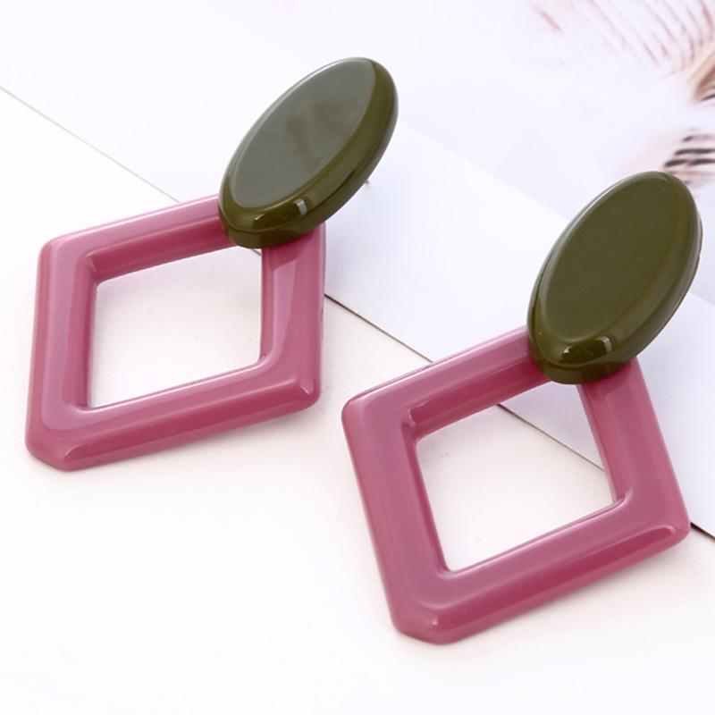 Fashion-Diamond-Geometric-Earrings-Vintage-Acrylic-Drop-Earrings-C6N9 thumbnail 6
