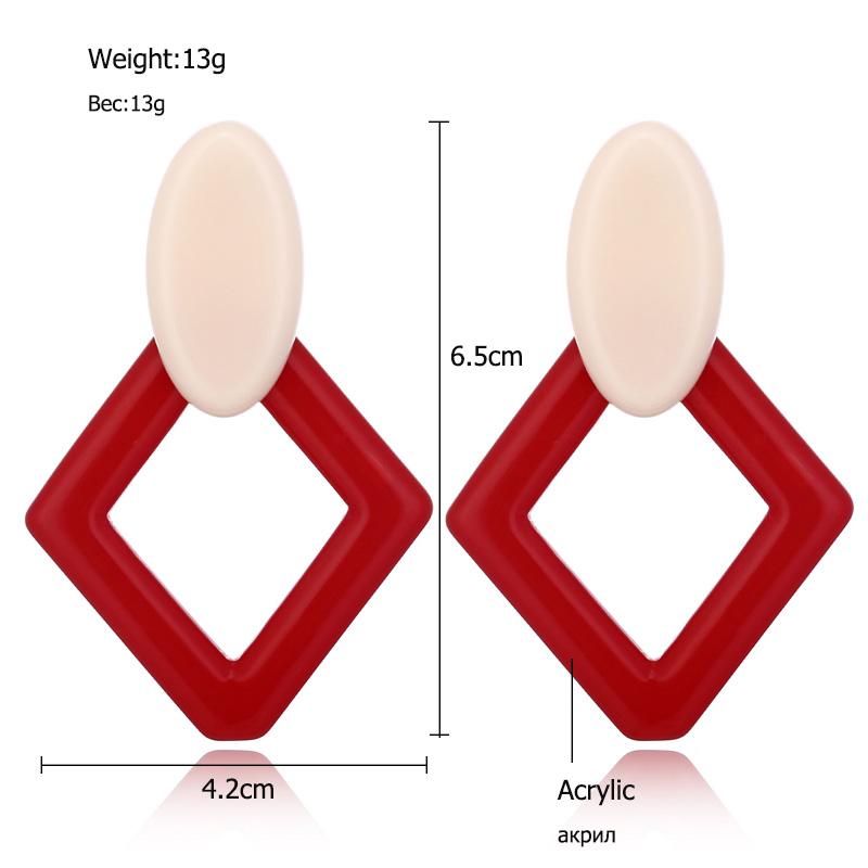 Fashion-Diamond-Geometric-Earrings-Vintage-Acrylic-Drop-Earrings-C6N9 thumbnail 19