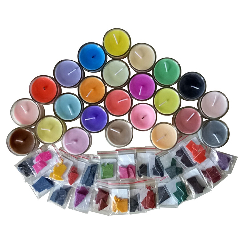 24 Colors 2G Per Color Wax Dye Scented Non-Toxic Diy Soy ...