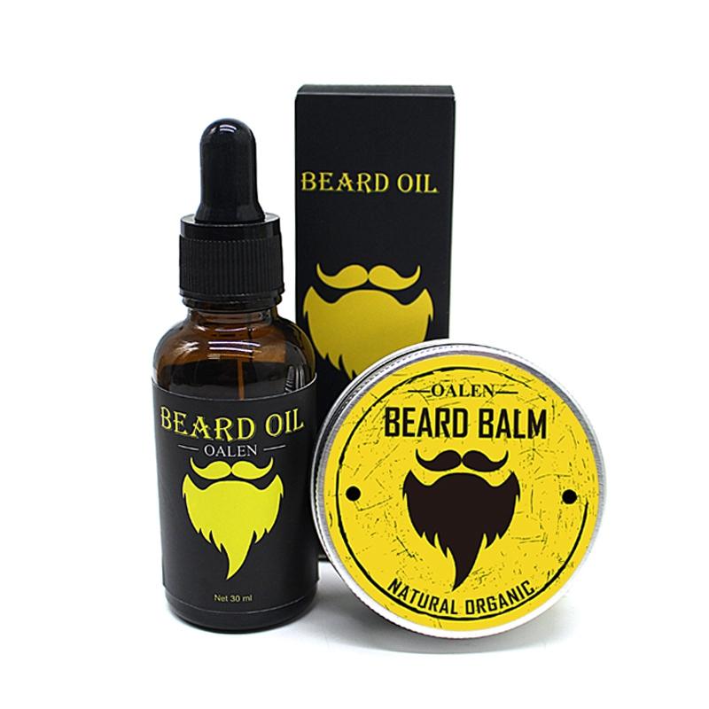 Oalen-Beard-Care-Kit-Balm-Oil-Beard-Balm-Beard-Comb-Beard-Brush-Beard-Bag-W4M3 thumbnail 5