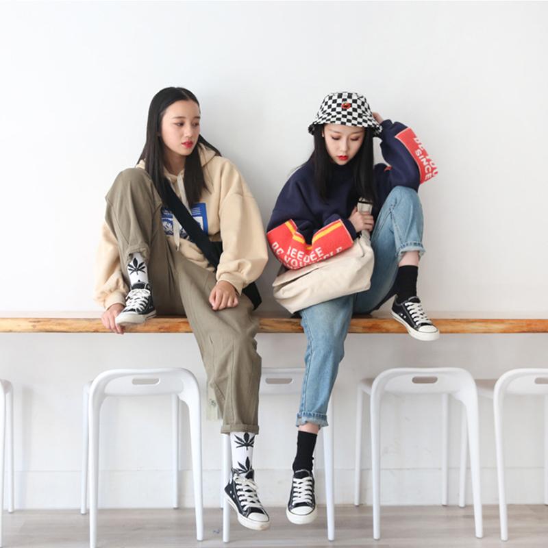 Fashion-Classic-Solid-Color-Hasp-Messenger-Bags-School-Bags-Women-Canvas-HaA6E4 thumbnail 3