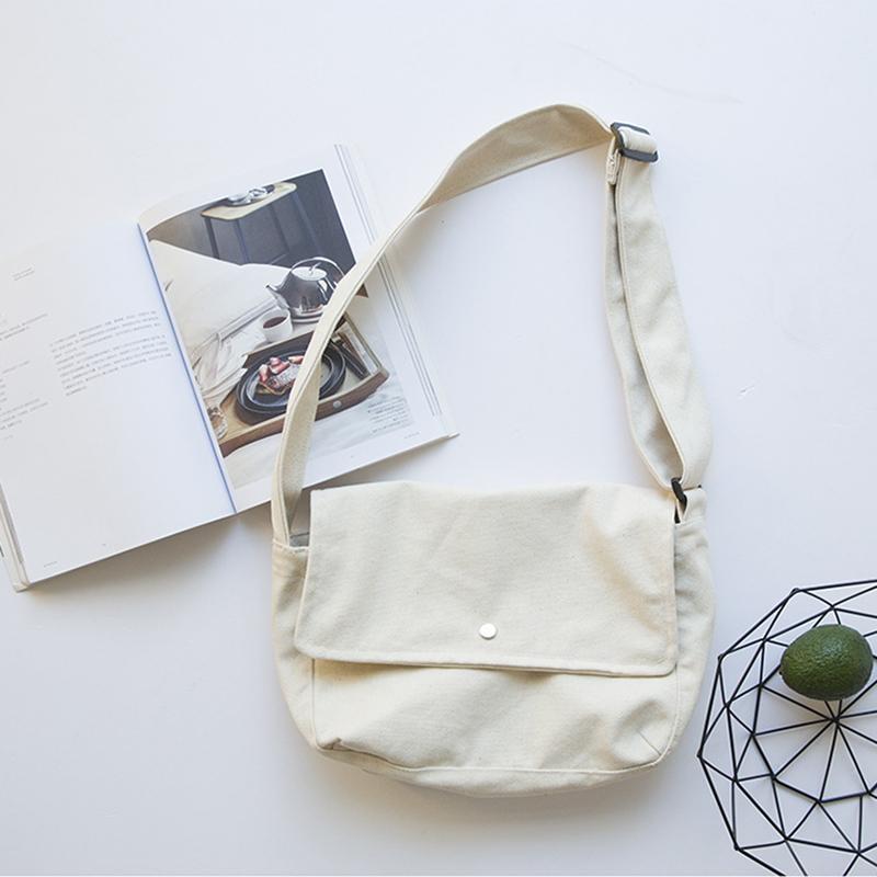 Fashion-Classic-Solid-Color-Hasp-Messenger-Bags-School-Bags-Women-Canvas-HaA6E4 thumbnail 6