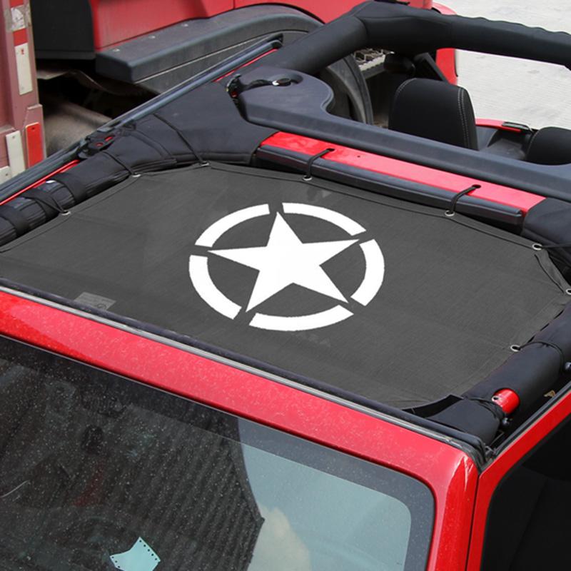 Jeep-Wrangler2-Tuer-Version-Fuer-Wrangler-Dachisolierung-Mesh-Schatten-Netz-T-T2U1 Indexbild 3