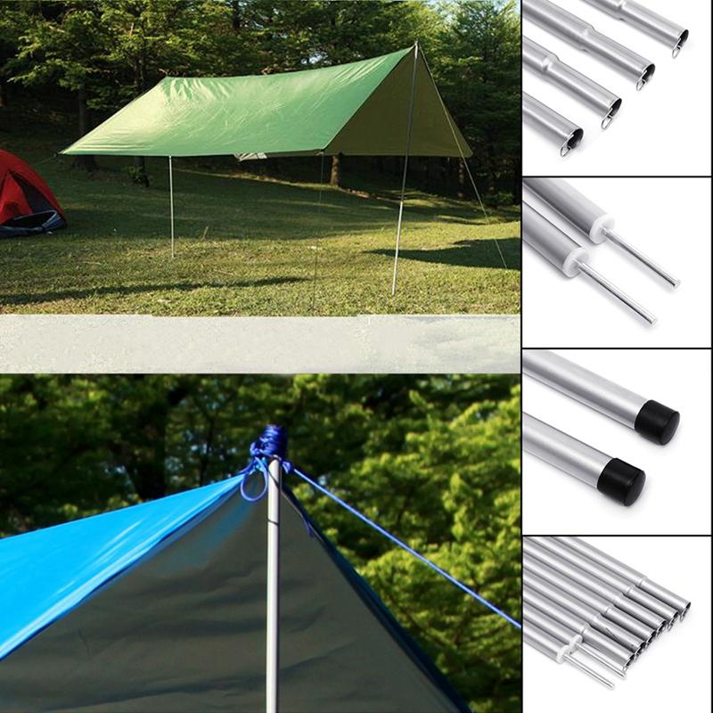 8-Piezas-55-Cm-Poste-De-La-Tienda-Ajustable-Barra-De-Toldo-De-Camping-Univer-u1o miniatura 10