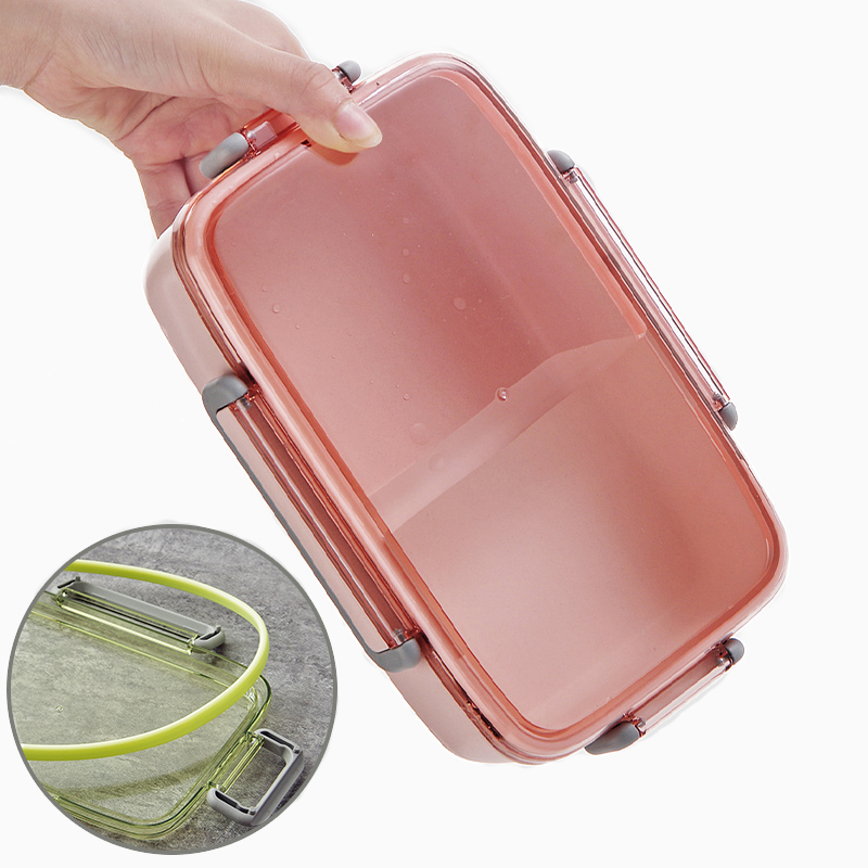 2X-Portable-Lunch-Box-Independent-Grid-Rectangular-Lunch-Box-Leakproof-Food7J8 thumbnail 3