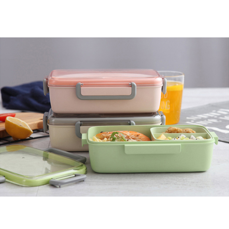 2X-Portable-Lunch-Box-Independent-Grid-Rectangular-Lunch-Box-Leakproof-Food7J8 thumbnail 4