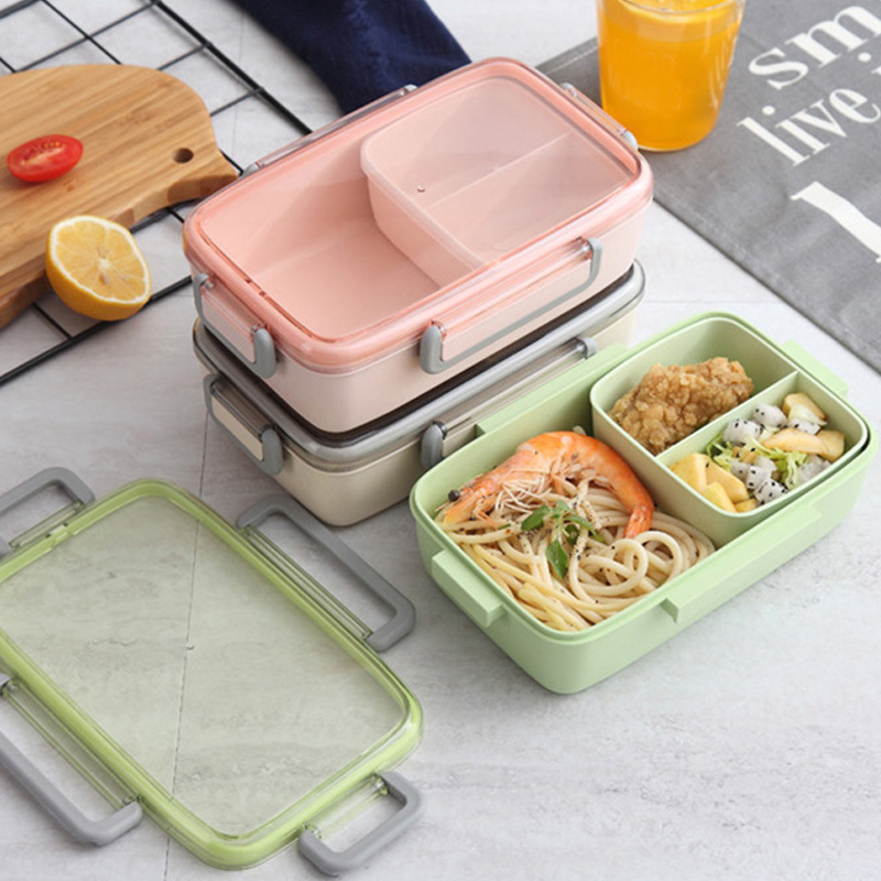 2X-Portable-Lunch-Box-Independent-Grid-Rectangular-Lunch-Box-Leakproof-Food7J8 thumbnail 6