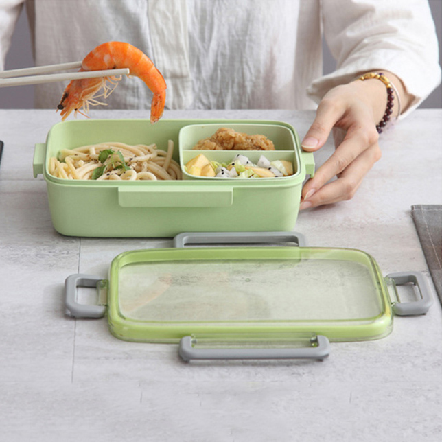 2X-Portable-Lunch-Box-Independent-Grid-Rectangular-Lunch-Box-Leakproof-Food7J8 thumbnail 7