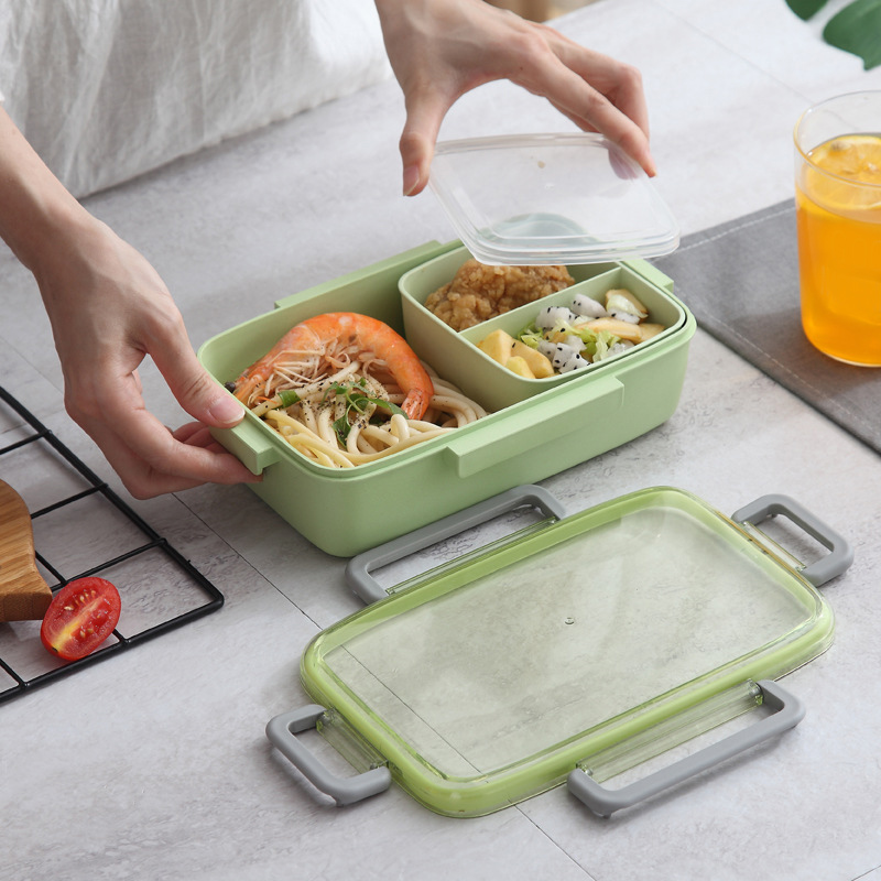 2X-Portable-Lunch-Box-Independent-Grid-Rectangular-Lunch-Box-Leakproof-Food7J8 thumbnail 8