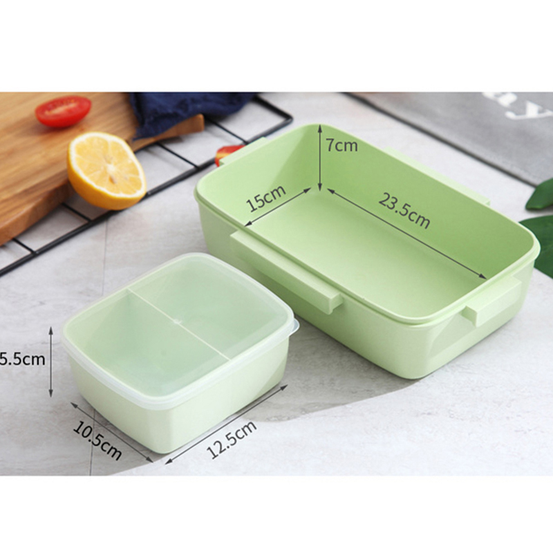 2X-Portable-Lunch-Box-Independent-Grid-Rectangular-Lunch-Box-Leakproof-Food7J8 thumbnail 13